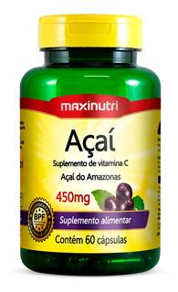 Açaí 450mg - 60 Cápsulas - Maxinutri