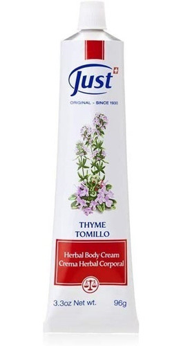 Imagen 1 de 4 de Crema De Tomillo (96g), Crema Herbal Corporal - Thyme Cream