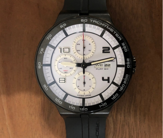 Reloj Porsche Design Flat Six P6360 Chrono Automático Nuevo