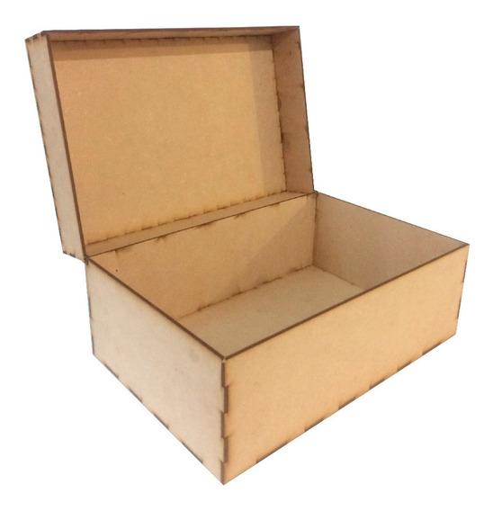 Caja Mdf 30 X 20 X 15 Baul Cuadrado Alhajero Grabado