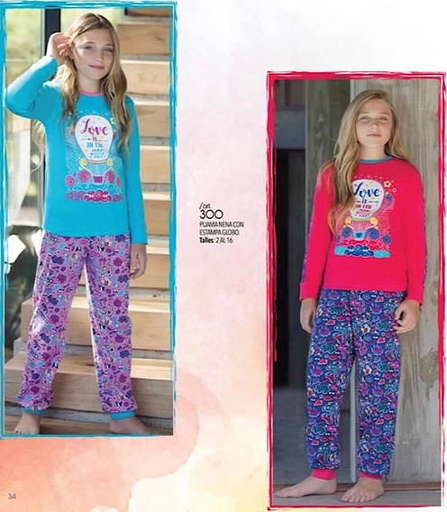 Pijama Piache Piu De Nena Talles 14 Y 16 Art 300