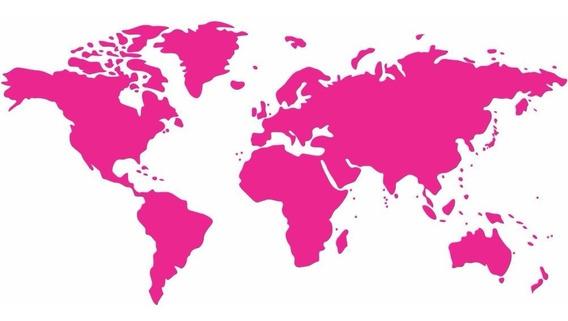 Adesivo Papel Parede Decorativo Mapa Mundi Viagem 100x50cm