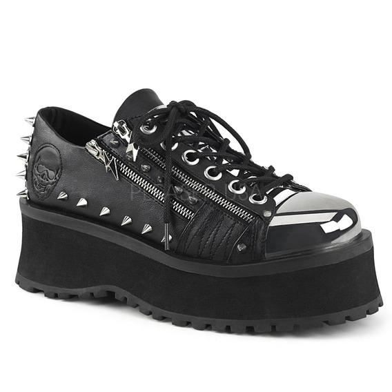 Zapatos Dark Alternativo Rock Punk Demonia Gravedigger 04