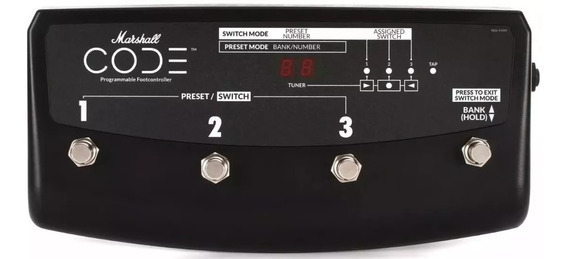 Pedal Footswitch Para Code 25/50 E 100 Marshall Pedl-91009