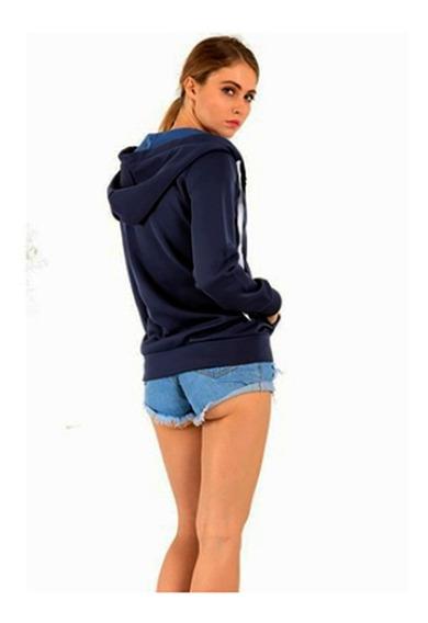 Campera Hoodie Con Capucha Mujer Algodón Premium Jacket Damaa04