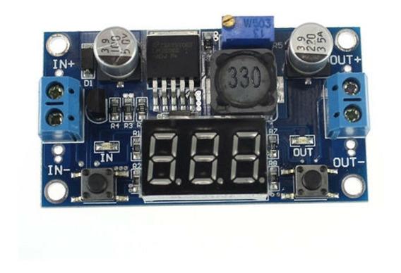 Regulador De Tensão Ajustável Lm2596 Dc-dc Display Step Down