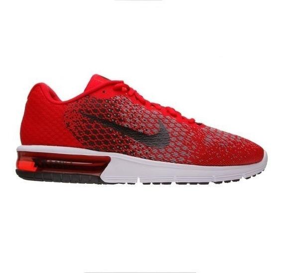 Tênis Masculino Nike Air Max Sequent 2 Vermelho Original
