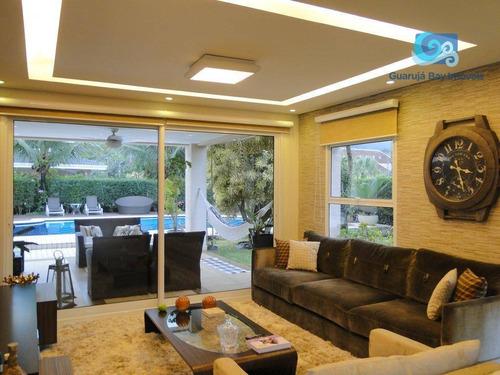 Imagem 1 de 30 de Casa Com 4 Dormitórios À Venda, 400 M² Por R$ 3.500.000,00 - Praia Da Enseada - Guarujá/sp - Ca1713