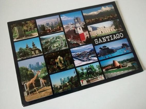 Tarjeta Postal Foto Santiago De Chile Usada Decada 90