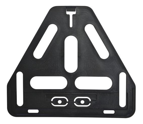 Reforço De Placa Moto Plástico Preto