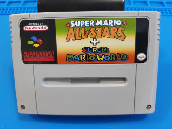 Cartucho De Super Nintendo Super Mário Star + Mario World