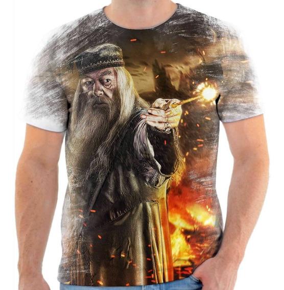 Frete Grátis Camisa Camiseta Harry Potter Dumbledore 100