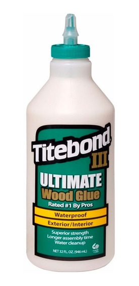 Cola Para Madeira Ill Ultimate Wood Glue Titebond 946 Ml