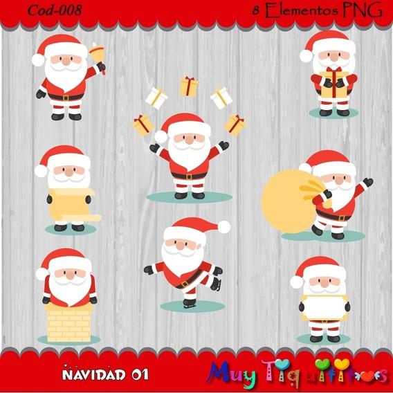 Kit Imprimible Navidad 01- Imagenes Png- Cliparts 2x1