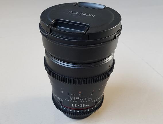 Lente Rokinon 35mm T1.5 Cine As Nikon
