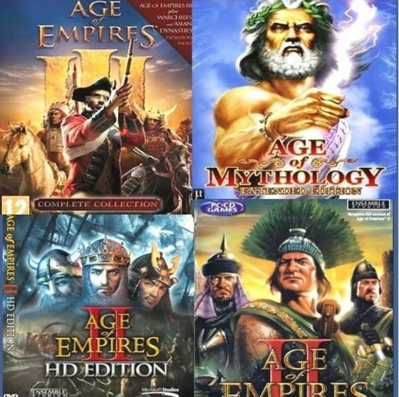 Promoção!! Todos Age Of Empires + Warcraft 3 + Age Mythology