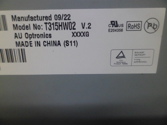 Tela Display Ln32b550 T315hw02 V.2 Samsung