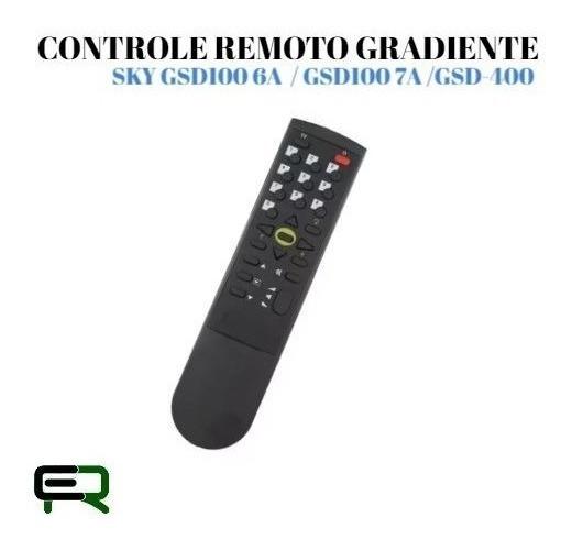 Controle Remoto Gradiente Sky Gsd100 6a / Gsd100 7a /gsd-400