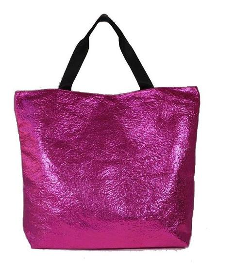 Bolso Shopping Metalizado - Diferentes Colores -