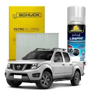 Par Filtro Cabine + Limpa Ar Condicionado Frontier 2013 2014