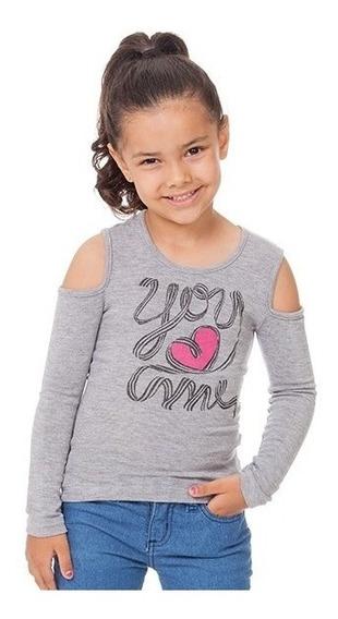 Blusa M. Longa Infantil Ciganinha C Estampa You Me Nº4 Ao 10