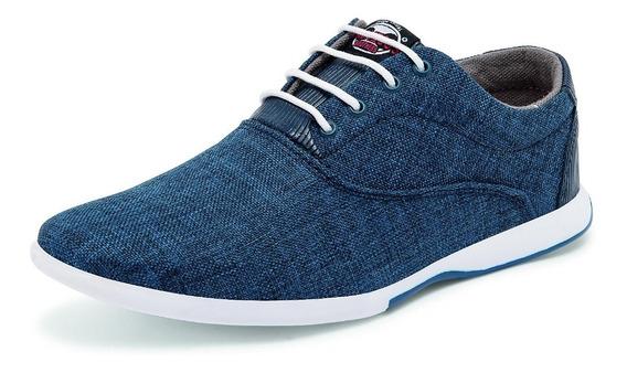 Zapatos Estilo Casual Para Niño Color Azul Mezclilla