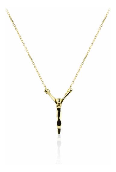 Colar Cristo Em Ouro Amarelo 18k Da Marca Guerreiro Original I Corrente Crucifixo Cruz De Ouro