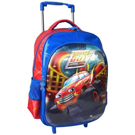 Mochila Infantil Rodinha Speed Car Azul
