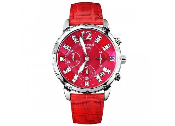 Relógio Casio Vermelho - Lindo E Barato, Modelo Importado !