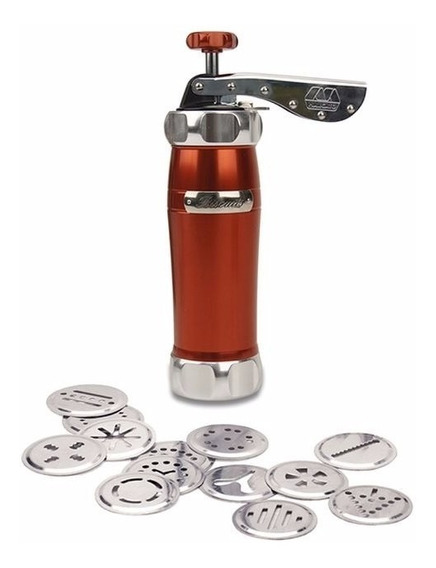Biscoiteira Máquina De Biscoito Marcato Em Alumínio Vermelha