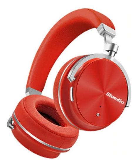 Fone Bluedio T4s Bluetooth Com Cancelamento De Ruído Vermelh