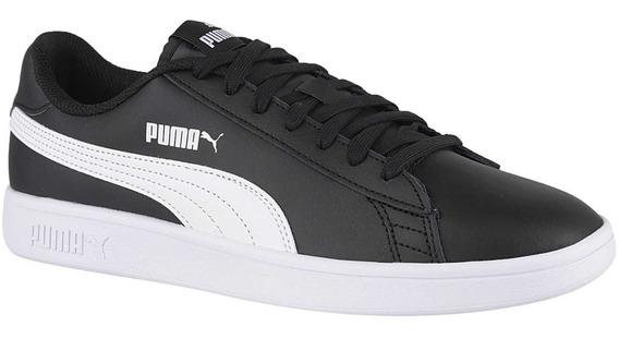 Zapatillas Puma Smash V2 Negra Moda Para Hombre Envío Gratis