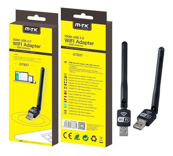 Antena Placa Usb Adaptador Wifi 150 Mbps Receptor Mtk Pc 2.0