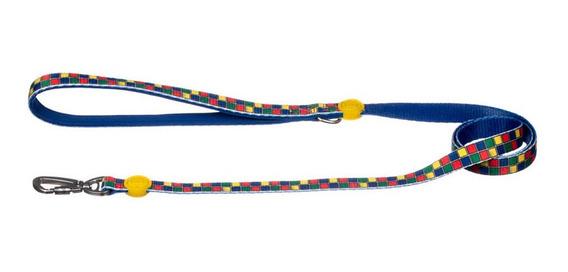 Guia Colar Para Cães Cachorros Pet Personalizada Colorida P