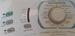 Lavadora De Roupas Electrolux 15 Kg Turbo Acquajet La15f