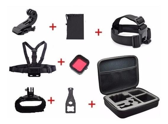 Gopro Kit Acessórios Câmera Hero 3/3+/4 Go Pro Sjcam