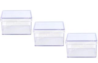 72 Caixinha Acrílico 7x7x4 Cm Cristal Lembrancinhas Top