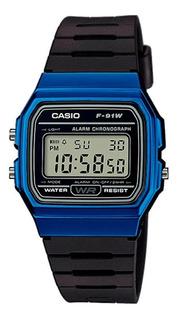 Reloj Hombre Casio F-91wm-2a Azul Retro / Lhua Store