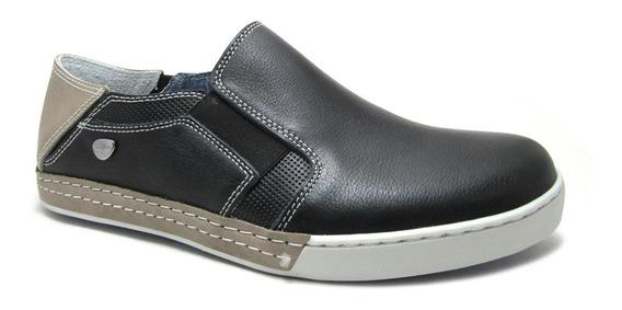 Zapatillas Cavatini Slack Elastizadas Cuero Natural, Hombre