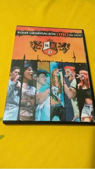 Dvd Rbd Tour Generación En Vivo - Frete Carta Registrada