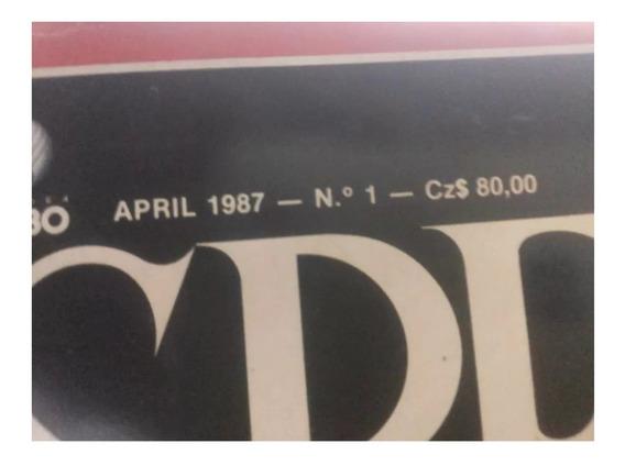Primeira Revista Speak Up Abril 1987 Numero 1 Com Fita K7