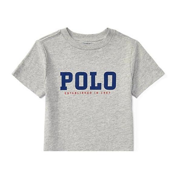 Camiseta Infantil Logo Da Polo Ralph Lauren