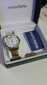 Relógio Mondaine Original Banhado Pouco Uso