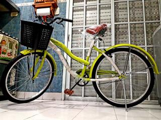 Bicicletas Nuevas De Paseo Rodado 26 Vintage Con Canasto