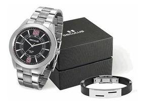 Relógio Seculus Masculino 28864g0svna1k1 + Pulseira