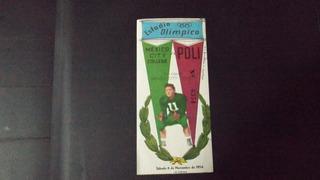 Boleto Futbol Americano Mexico City Vs Poli 1954