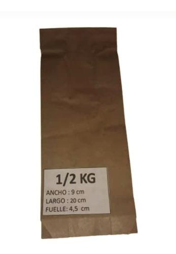 Bolsas De Papel Kraf 1/2 Kg Cantidad Minima 500 Bolsas