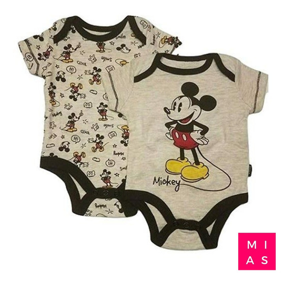 Set Body 2 Piezas Mickey Mouse Recien Nacido Original