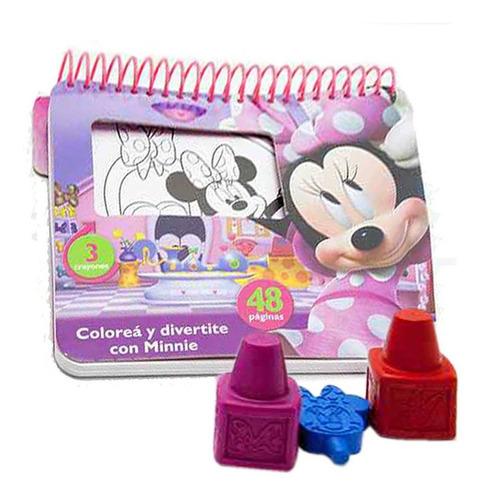 Libro Para Colorear Minnie Mouse Incluye Crayones