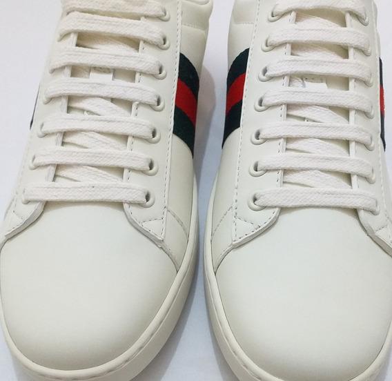 Tênis Gucci Sneaker Branco Bordado
